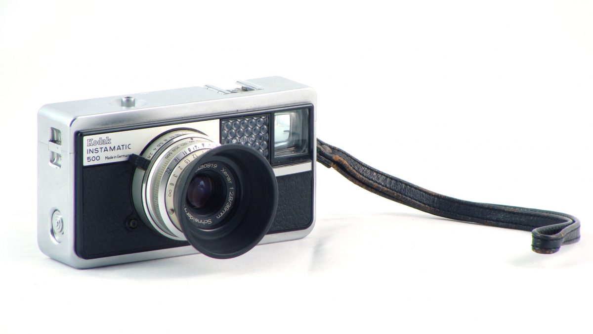 A camera – the Kodak Instamatic 500